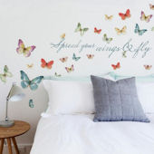Lisa Audit Butterfly Quote Wall Decals