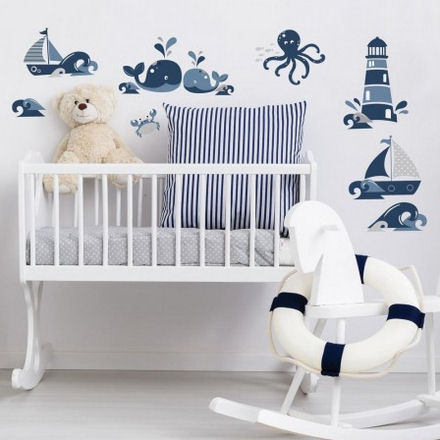 Nautical Friends Peel and Stick Wall Decals  - Wall Sticker Outlet