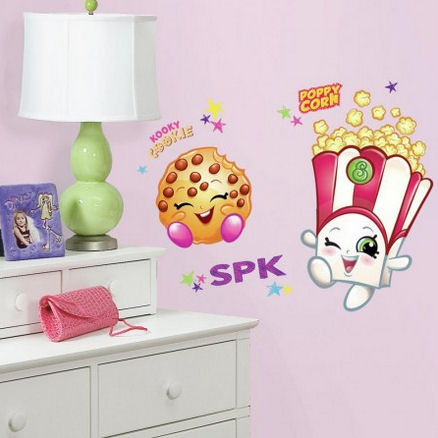 Poppy Corn and Kooky Cookie Shopkins Wall Decals - Wall Sticker Outlet
