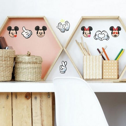 Disney Mickey and Minnie Emoji Wall Decals  - Wall Sticker Outlet
