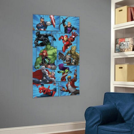 Marvel Team Peel and Stick Wall Mural - Wall Sticker Outlet