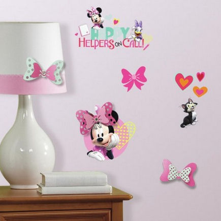 Disney Minnie Mouse Happy Helpers Wall Decals  - Wall Sticker Outlet