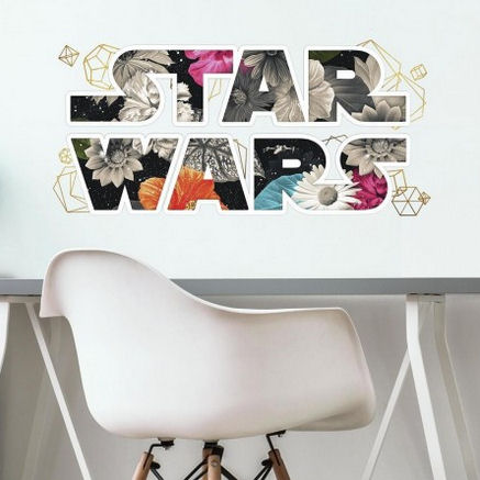 Star Wars Floral Logo Wall Decals  - Wall Sticker Outlet