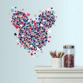 Minnie Mouse Heart Confetti Wall Decals