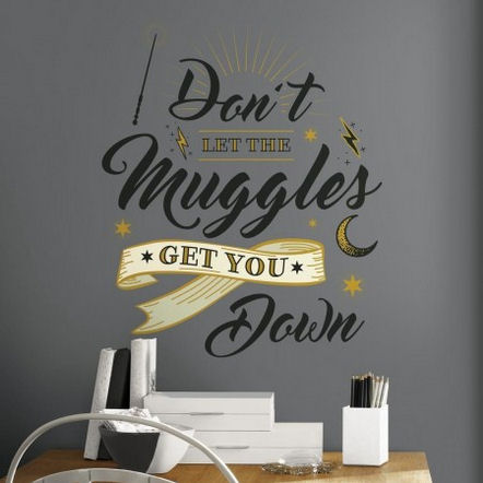 Harry Potter Muggles Peel and Stick Wall Decals  - Wall Sticker Outlet