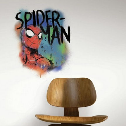 Spiderman Graffiti Peel and Stick Wall Decals  - Wall Sticker Outlet