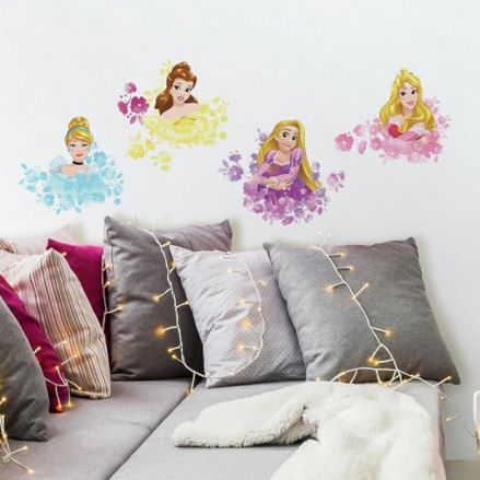 Disney Princess Floral Peel and Stick Wall Decals  - Wall Sticker Outlet