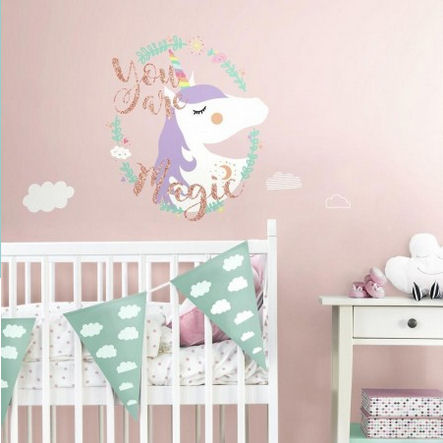 Unicorn Magic Giant Peel and Stick Wall Decals  - Wall Sticker Outlet