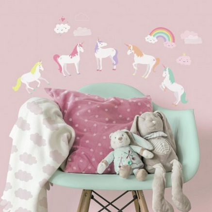 Unicorn Magic Peel and Stick Wall Decals - Wall Sticker Outlet