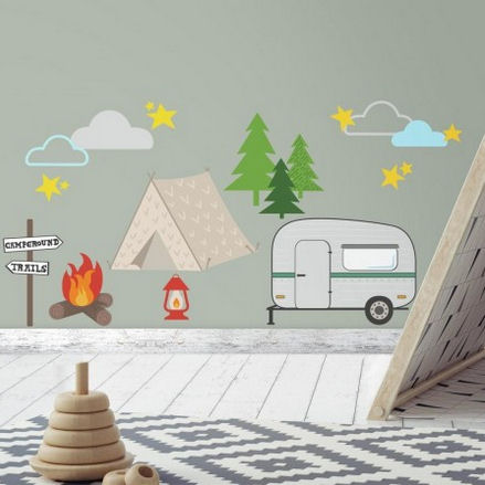 Camping Peel and Stick Wall Decals  - Wall Sticker Outlet