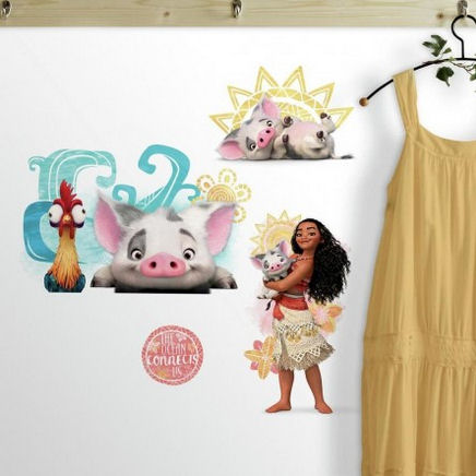 Disney Moana and Friends Wall Decals  - Wall Sticker Outlet