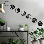 Phases of the Moon Peel and Stick Wall Decals