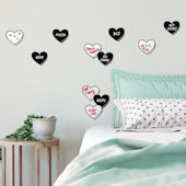 Real Talk Conversation Hearts Wall Decals