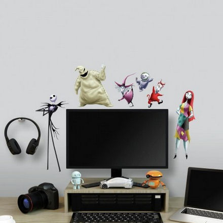 Nightmare Before Christmas Peel and Stick Decals - Wall Sticker Outlet