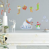 Polar Christmas Peel and Stick Wall Decals