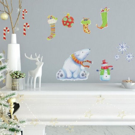 Polar Christmas Peel and Stick Wall Decals - Wall Sticker Outlet
