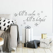 All is Calm All is Bright Peel Stick Wall Decals