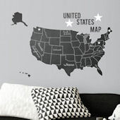 USA Chalkboard Peel and Stick Map Decal