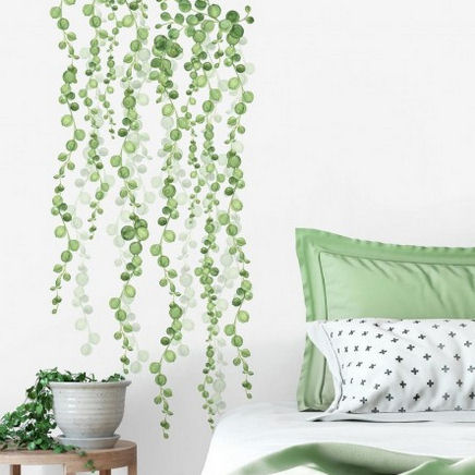 String of Pearls Vine Peel and Stick Wall Decals - Wall Sticker Outlet
