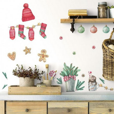 Classic Christmas Peel and Stick Wall Decals - Wall Sticker Outlet