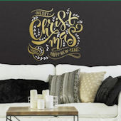 Merry Christmas Peel and Stick Wall Decal