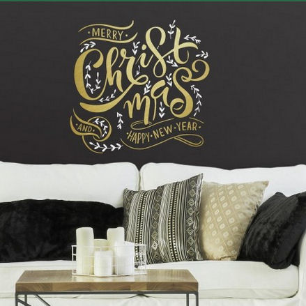 Merry Christmas Peel and Stick Wall Decal - Wall Sticker Outlet