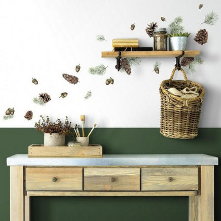 Acorn and Pinecone Peel and Stick Wall Decals - Wall Sticker Outlet