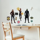 Captain Marvel Peel and Stick Wall Decals