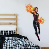 Captain Marvel Peel and Stick Giant Wall Decals