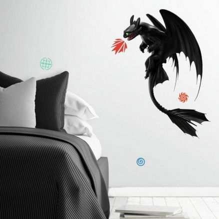 How to Train Your Dragon Toothless Wall Decal - Wall Sticker Outlet