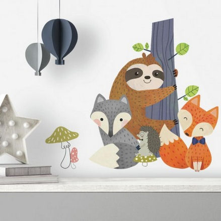 Forest Friends Giant Peel and Stick Wall Decals - Wall Sticker Outlet