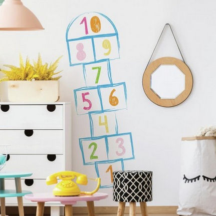 Hopscotch Peel and Stick Giant Wall Decals - Wall Sticker Outlet