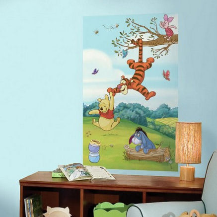 Pooh and Friends Peel and Stick Wall Mural - Wall Sticker Outlet