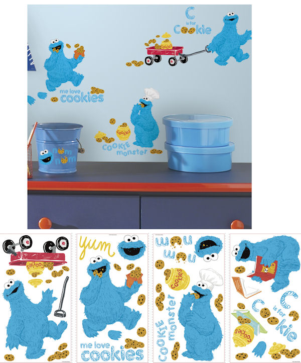Me Love Cookie Monster Wall Decals - Wall Sticker Outlet