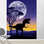 Roar Of The T Rex Violet Easy Up Mural