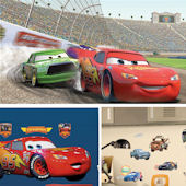 Cars Lightning McQueen XL Complete Room Decal Pack
