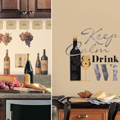 Keep Calm and Drink Wine Decal Pack