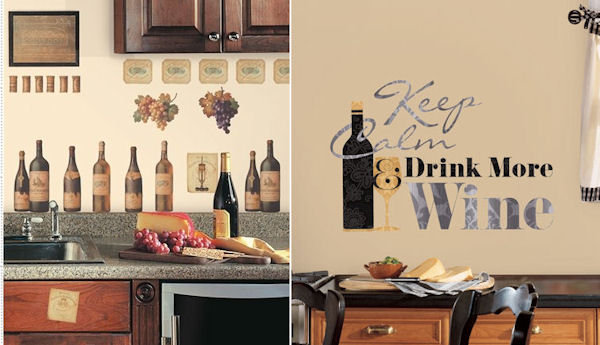Keep Calm and Drink Wine Decal Pack - Wall Sticker Outlet