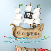 Pirate Ship Giant Wall Decal