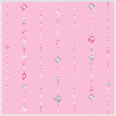 Beaded Curtain Pink Wallpaper
