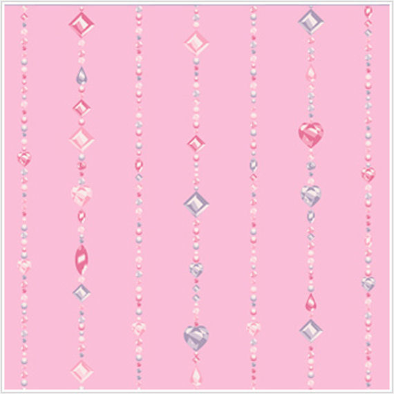 Beaded Curtain Pink Wallpaper - Wall Sticker Outlet
