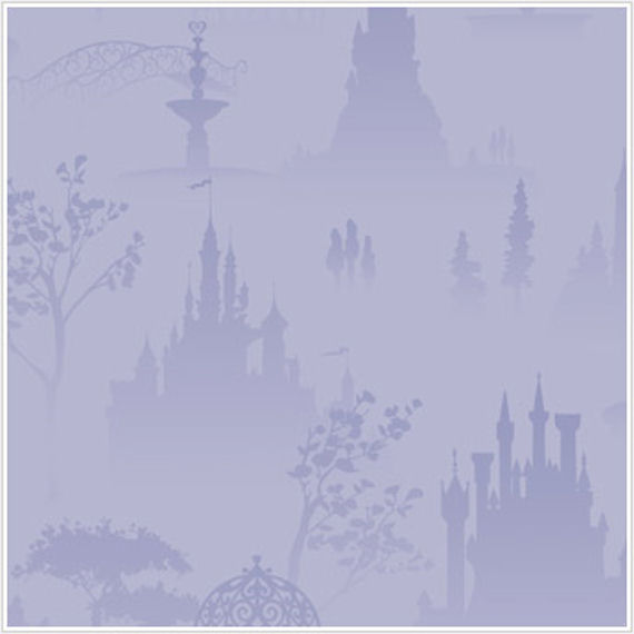Princess Scenic Tolie Purple Wallpaper - Wall Sticker Outlet