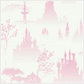 Disney Princess Scenic Tolie White Wallpaper