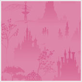 Disney Princess Scenic Tolie Pink Wallpaper