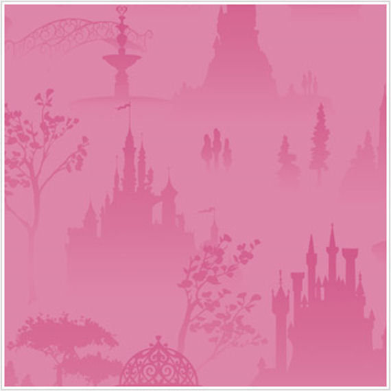 Disney Princess Scenic Tolie Pink Wallpaper - Wall Sticker Outlet