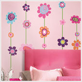 Flower Stripe Giant Wall Decal