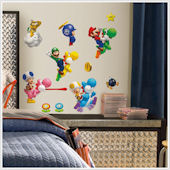 New Super Mario Brothers Wii Wall Decals