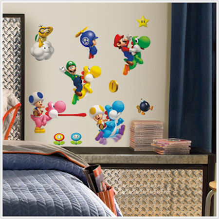 New super mario brothers wii wall decals - Mario wall clings ...