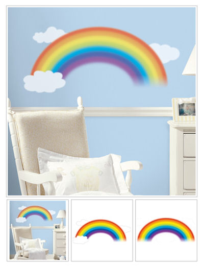 Over the Rainbow Giant Wall Decal - Wall Sticker Outlet