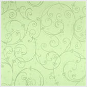 Perfect Princess Green Glitter Scroll Wallpaper